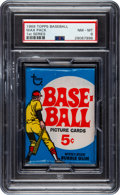 Baseball Cards:Unopened Packs/Display Boxes, 1969 Topps Baseball First Series Wax Pack PSA NM-MT 8....