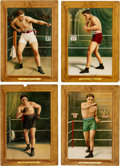 Boxing Cards:General, 1910 T9 Turkey Red Boxers Collection (4). ...