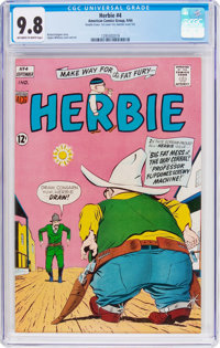 Herbie #4 Double Cover (ACG, 1964) CGC NM/MT 9.8 Off-white to white pages