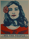 Fine Art - Work on Paper:Print, Shepard Fairey (American, b. 1970). We the People, (threeworks), 2017. Screenprints in colors on speckled paper. 24 x 1...(Total: 3 Items)