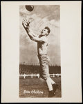 Autographs:Photos, Don Huston Signed Vintage Photograph - Image Used for 1955 ToppsAll-American Rookie Card.. ...