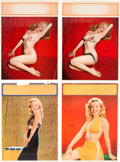 Movie/TV Memorabilia:Documents, Marilyn Monroe Group of Very Rare Medium-Sized 'Salesman Sample' Calendar Pages (Circa 1955).... (Total: 4 Items)