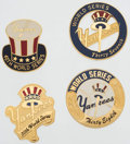 Baseball Collectibles:Pins, 1998-2009 New York Yankees World Series Press Pin Lot of 4.. ...