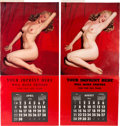 Movie/TV Memorabilia:Documents, Marilyn Monroe Group of Very Rare Large-Sized 'Salesman Sample'Calendars (1955-1956).... (Total: 4 Items)