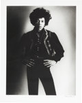 Music Memorabilia:Photos, Jimi Hendrix Limited Edition Black and White Photo by Bruce Fleming (1967)....