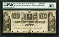Canadian Currency, Toronto, UC- Bank of the People $50 ND (1836-40) Ch. # 570-12-18PProof PMG About Uncirculated 55.. ...
