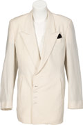 Music Memorabilia:Costumes, Prince Personally Owned and Stage Worn White Double-Breasted SilkJacket. ...