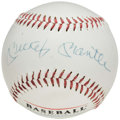 Autographs:Baseballs, Mickey Mantle Single Signed Ken Burns Film Baseball.. ...