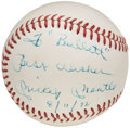 "Autographs:Baseballs, 1972 Mickey Mantle ""To Bullett"" Single Signed Baseball.. ..."
