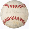 Autographs:Baseballs, 1977 Montreal Expos Team Signed Baseball (28 Signatures).. ...