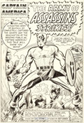 Original Comic Art:Splash Pages, Jack Kirby and Chic Stone Tales of Suspense #60 Splash Page1 Captain America Original Art (Marvel, 1964)....