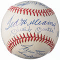 Autographs:Baseballs, 500 Home Run Club Multi-Signed Baseball (11 Signatures).. ...