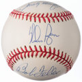 Autographs:Baseballs, Hall of Fame Pitching Greats Multi-Signed Baseball (3 Signatures)with Feller, Koufax, & Ryan.. ...