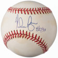 "Autographs:Baseballs, Nolan Ryan ""4/27/93"" Single Signed Baseball.. ..."