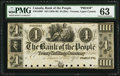 Canadian Currency, Toronto, UC- Bank of the People $4 ND (1836-40) Ch. # 570-12-08P Proof.. ...