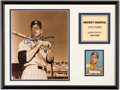 Autographs:Photos, Mickey Mantle Signed Limited Edition Photograph Display.. ...