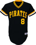 Baseball Collectibles:Uniforms, 1981 Willie Stargell Game Worn Pittsburgh Pirates Jersey, MEARS A10, with Cap & Pants.. ...