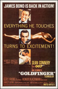 "Movie Posters:James Bond, Goldfinger (United Artists, 1964). One Sheet (27"" X 41"") Flat Style. James Bond.. ..."