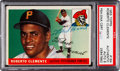 Autographs:Sports Cards, Signed 1955 Topps Roberto Clemente #164 Rookie PSA/DNA Auto 8. ...