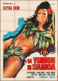 "Movie Posters:Foreign, Drums of Tabu (Paris-Etoile, 1968). Italian 4 - Fogli (55"" X 77"") P. Franco Artwork. Foreign.. ..."