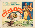 """Movie Posters:Horror, The Cyclops (Allied Artists, 1957). Half Sheet (22"""" X 28"""").Horror.. ..."""