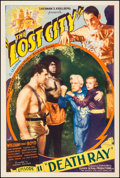 "Movie Posters:Serial, The Lost City (Super Serial Productions, 1935). One Sheet (27.5"" X41"") Episode 11 -- ""Death Ray."" Serial.. ..."