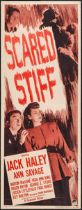 """Movie Posters:Mystery, Scared Stiff (Paramount, 1945). Insert (14"""" X 36""""). Mystery.. ..."""