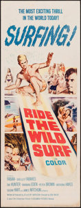 "Movie Posters:Sports, Ride the Wild Surf (Columbia, 1964). Insert (14"" X 36""). Sports....."