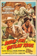"Movie Posters:Western, Ridin' the Outlaw Trail (Columbia, 1950). One Sheet (26.5"" X40.75""). Glenn Cravath Artwork. Western.. ..."