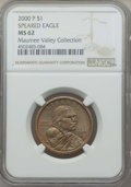 Sacagawea Dollars, 2000-P $1 Wounded Eagle MS62 NGC. PCGS Population: (1/4). . From The Maumee Valley Collection P...