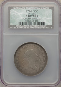 1794 50C O-101a, T-7, High R.3 -- Tooled, Whizzed -- NCS. Good Details....(PCGS# 39201)