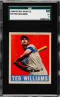 Baseball Cards:Singles (1940-1949), 1948 Leaf Ted Williams #76 SGC 60 EX 5....