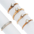 Estate Jewelry:Rings, Diamond, Platinum, Gold Rings . ... (Total: 5 Items)