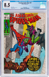 The Amazing Spider-Man #97 (Marvel, 1971) CGC VF+ 8.5 Off-white to white pages