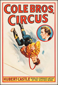 """Cole Brothers Circus (Cole Bros., 1940s). Poster (28"""" X 41""""). Miscellaneous"""