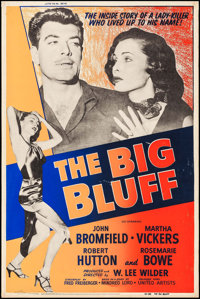 """The Big Bluff (United Artists, 1955). Rolled, Very Fine-. Silk Screen Poster (40"""" X 60""""). Crime"""