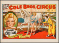 "Movie Posters:Miscellaneous, June Cristiani at Cole Brothers Circus (Cole Brothers, 1930s).Circus Poster (20.5"" X 28""). Miscellaneous.. ..."