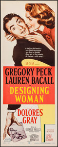 """Movie Posters:Comedy, Designing Woman (MGM, 1957). Insert (14"""" X 36""""). Comedy.. ..."""