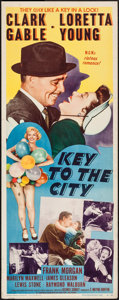 "Movie Posters:Comedy, Key to the City (MGM, 1950). Insert (14"" X 36""). Comedy.. ..."