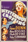 "Movie Posters:Crime, Mysterious Crossing (Universal, 1936). One Sheet (27.25"" X 41"").Crime.. ..."