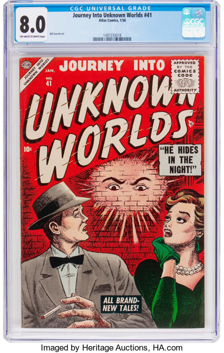 Journey Into Unknown Worlds #41 (Atlas, 1956) CGC VF 8.0 Off-white to white pages....