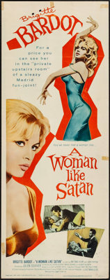 "A Woman Like Satan (Lopert, 1959). Insert (14"" X 36""). Bad Girl"