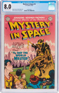 Golden Age (1938-1955):Science Fiction, Mystery in Space #6 (DC, 1952) CGC VF 8.0 Off-white to whitepages....