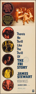 """Movie Posters:Crime, The FBI Story & Other Lot (Warner Brothers, 1959). Inserts (2)(14"""" X 36""""). Crime.. ... (Total: 2 Items)"""