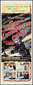 "Movie Posters:Action, The Great Locomotive Chase & Other Lot (Buena Vista, 1956).Inserts (2) (14"" X 36""). Action.. ... (Total: 2 Items)"