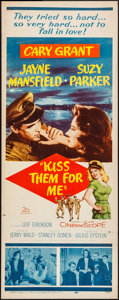 "Movie Posters:Comedy, Kiss Them for Me & Other Lot (20th Century Fox, 1957). Inserts(2) (14"" X 36""). Comedy.. ... (Total: 2 Items)"