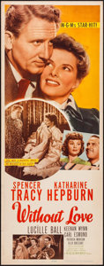 "Movie Posters:Romance, Without Love (MGM, 1945). Insert (14"" X 36""). Romance.. ..."