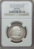 1893 50C Columbian AU58 Prooflike NGC. Ex: Bagne Collection. NGC Census: (5/211). PCGS Population: (0/0). Mintage 1,550...