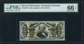 Fractional Currency:Third Issue, Fr. 1339 50¢ Third Issue Spinner Type II PMG Gem Uncirculated 66 EPQ.. ...