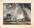 Movie/TV Memorabilia:Original Art, Gone with the Wind Pre-Production Concept Painting(Metro-Goldwyn-Mayer, 1939)....